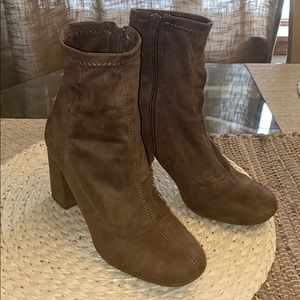 Women's Brown Suede Wedge Heels